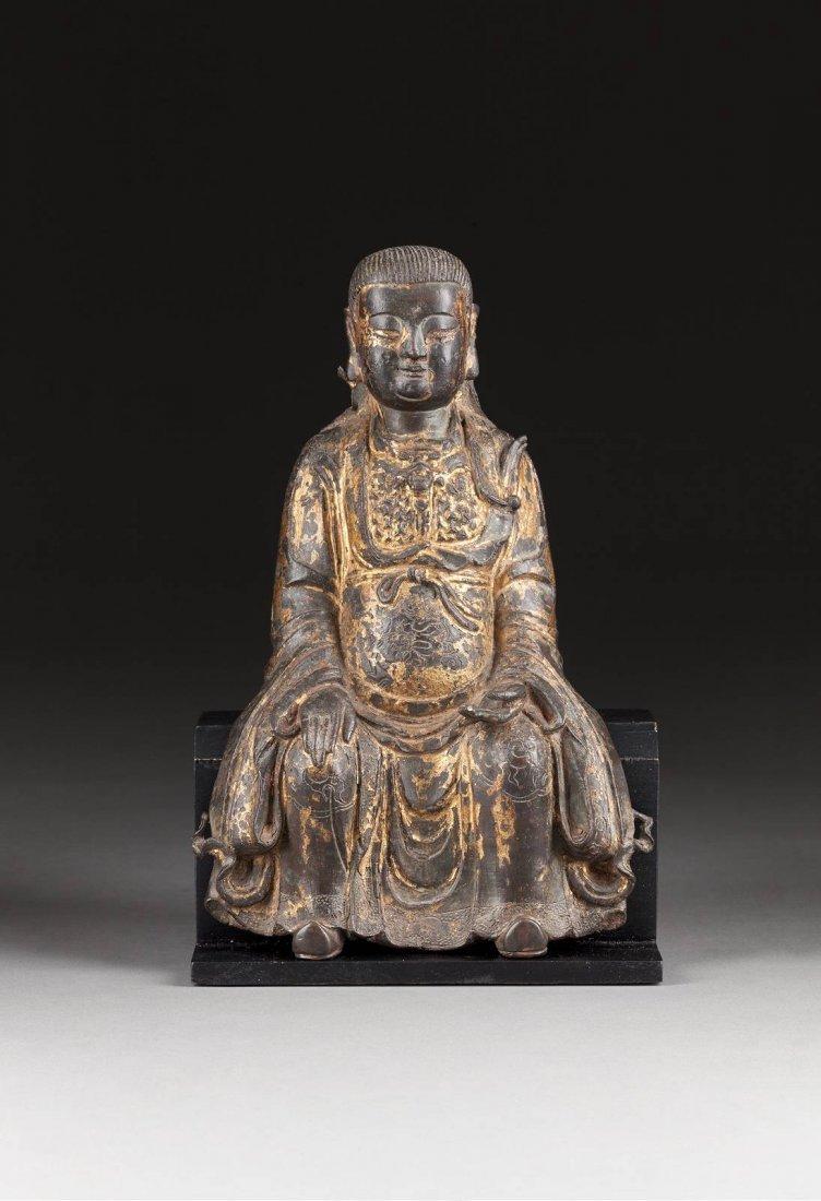GROSSE FIGUR DES ZHENWU China, 17. Jh. Bronze,