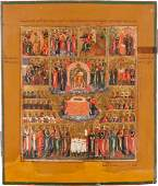 A FINELY PAINTED WEEK ICON Central Russian early 19th