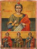 A TWO-PARTITE ICON SHOWING THE PROPHET DANIEL AND