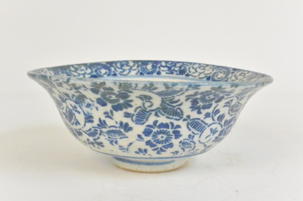 Chinese Blue & White Floral Bowl