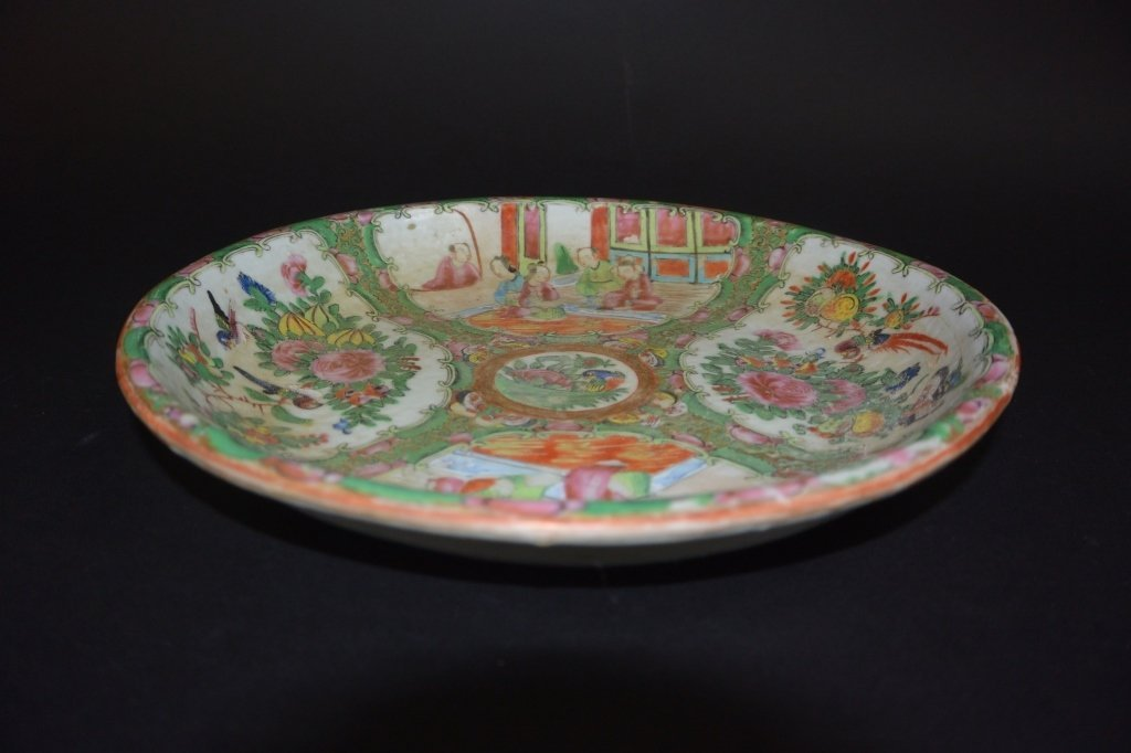 Chinese famille rose plate painted flowers