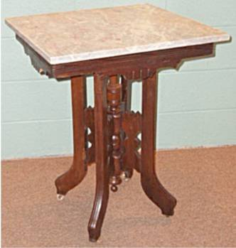1010: 1800's Victorian Marble Top Parlor Table