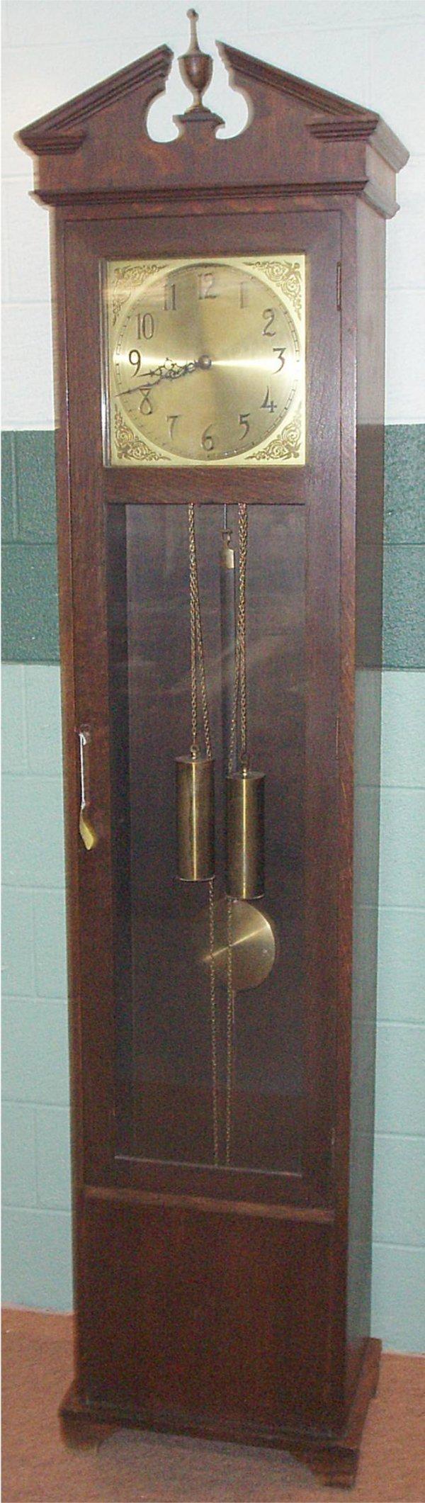 1015: Oak Grandfather Clock, Circa 1914