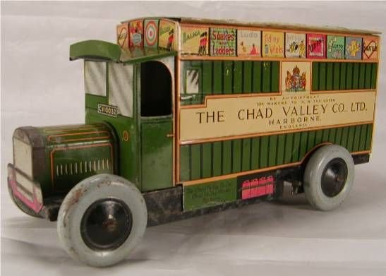 """1014: Chad Valley Delivery Van. 10"""" Long , Made in Eng"""