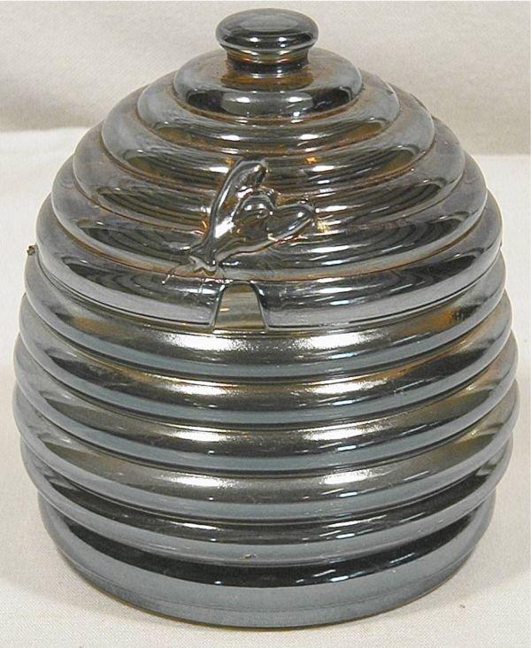 1006: Rare Imperial Blue Irredescent Honey Pot