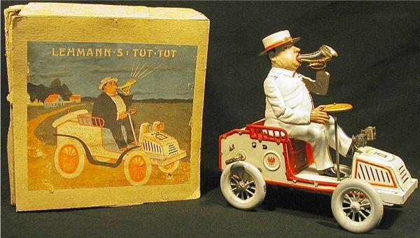 1066: Lehmann Tut Tut with Box, Toy Near Mint
