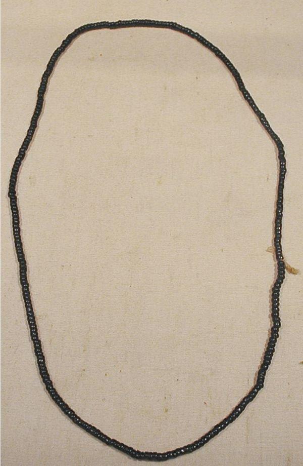 2006: 25 Inch Strand Colbalt Blue Trade Beads, 1700's
