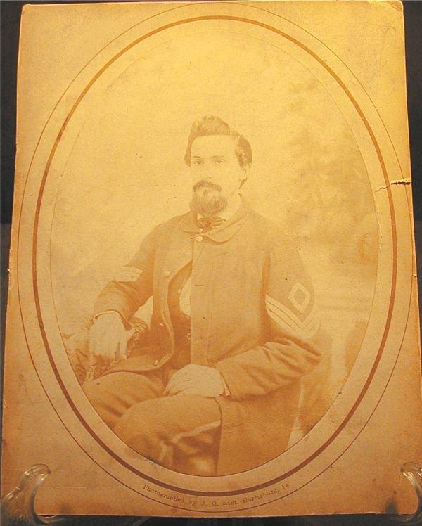 2024: Photo 7 1/4 x 5 1/4 Albuman Civil War Soldier, Ph
