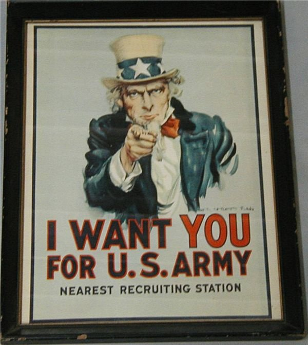 2004: Uncle Sam Recruiting Station Poster Framed, 15 x