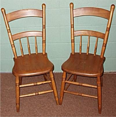3016: Two Plankbottom 1800's Chairs