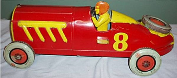 """1016: Chein Hercules Racer, 20"""" Long, HTF Toy, Spare T"""