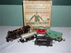 1007: Lionel O Gauge 1930's Tin Train Set, Steam Engin