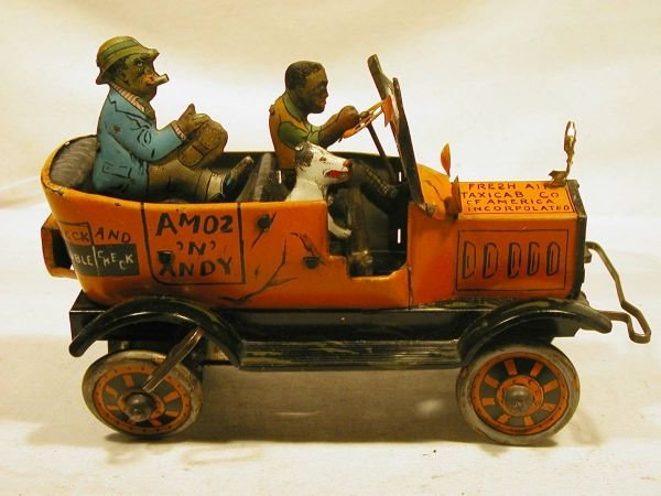 """1092: Marx Amos and Andy Fresh Air Taxi, 8"""" Long. Exce"""