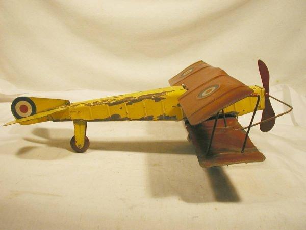"""1014: Kingsbury Bi Plane 12"""" Wing Span. Very Good-work"""