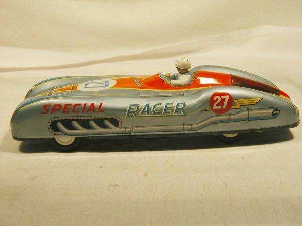 "1024: Friction powered racer, 11"" long-Japan Near Mint"