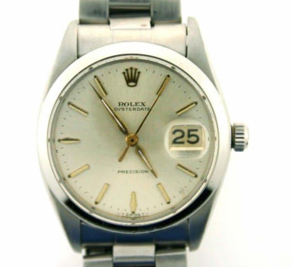 4005: Stainless Steel Rolex Watch