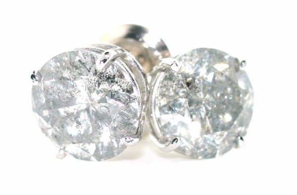 4013: 1.26cttw Diamond Solitaire Earrings in 14kt WG