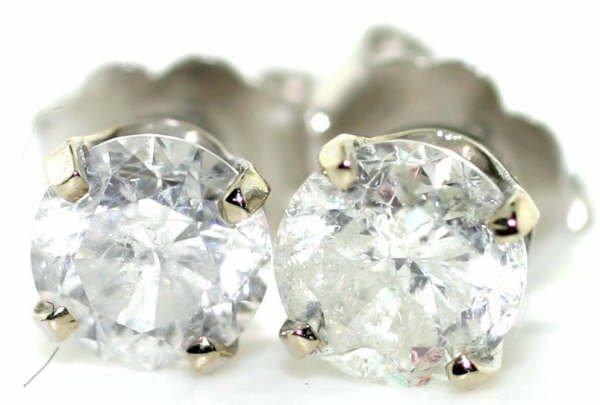 4014: 1cttw Diamond Stud Earrings in 14kt WG
