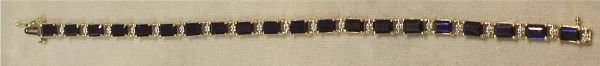 4018: 12 Ct. Saphire and Diamond Bracelet, 7 Inch