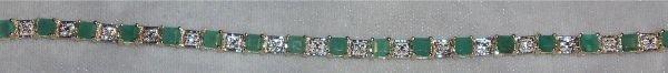 4020: Columbian Emerald and Diamond Bracelet, Set in 10