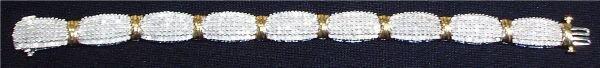 4022: Diamond Tennis Bracelet, Set in 10K, White and Ye