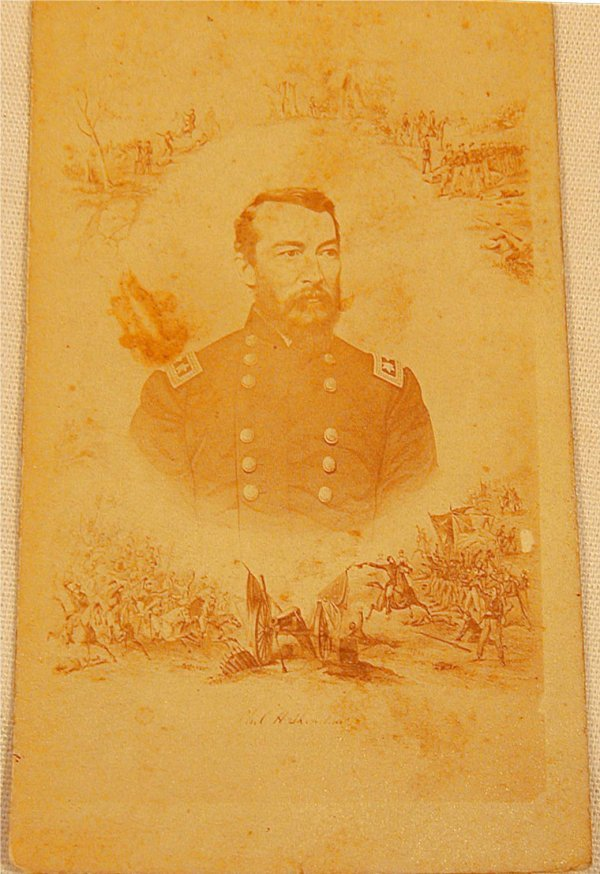 5017: CDV Civil War General, Lazier, Syracuse, NY