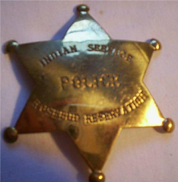 5024: Circa 1890 Authentic orig. Indian Service police