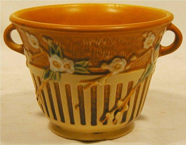 1001: Roseville #239-5 Cherry Blossom Two Handle Vase