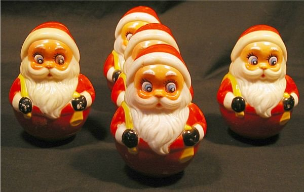 2002: Roly Poly Musical Santa Figure by Kiddie Products