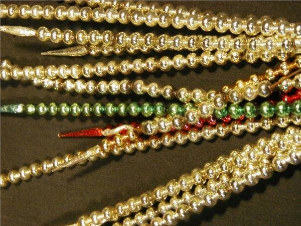"2021: Three Sets of Glass Vintage Stick Beads, 11""L"