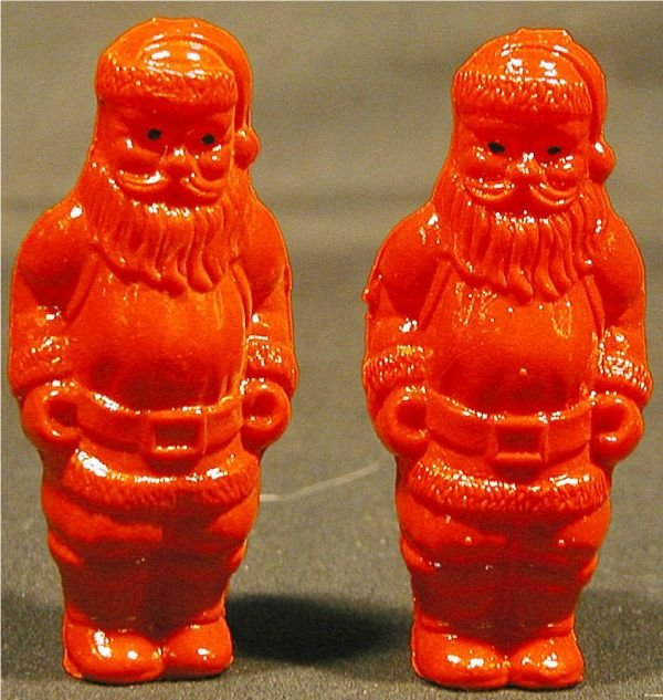 2022: Two Celluloid Santas, 2 1/4H