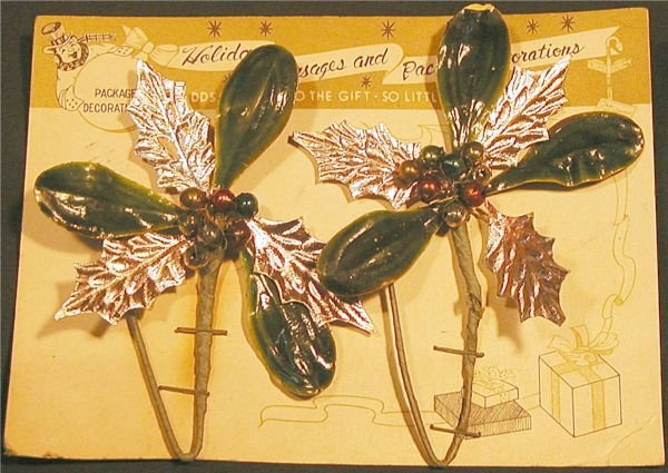 2006: Four Vintage Holiday Corsage/Package Decorations