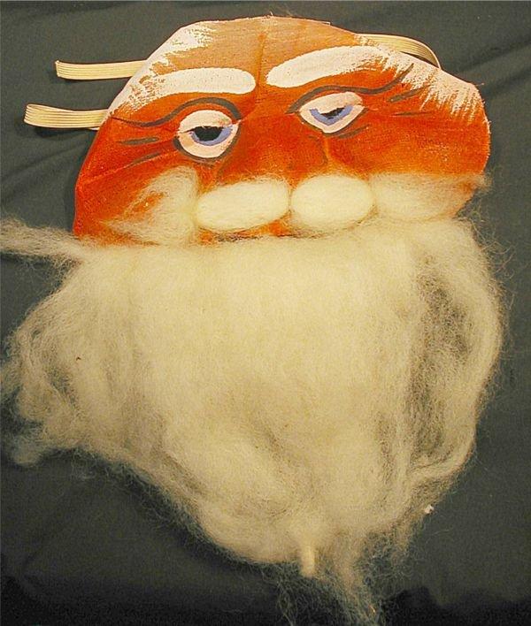 "2016: Santa Claus Mask, 4"" x 8 1/4"""