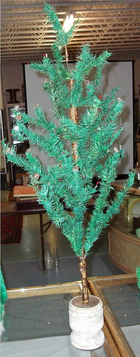 2018: 3' Tall Antique German Vintage Feather Tree with