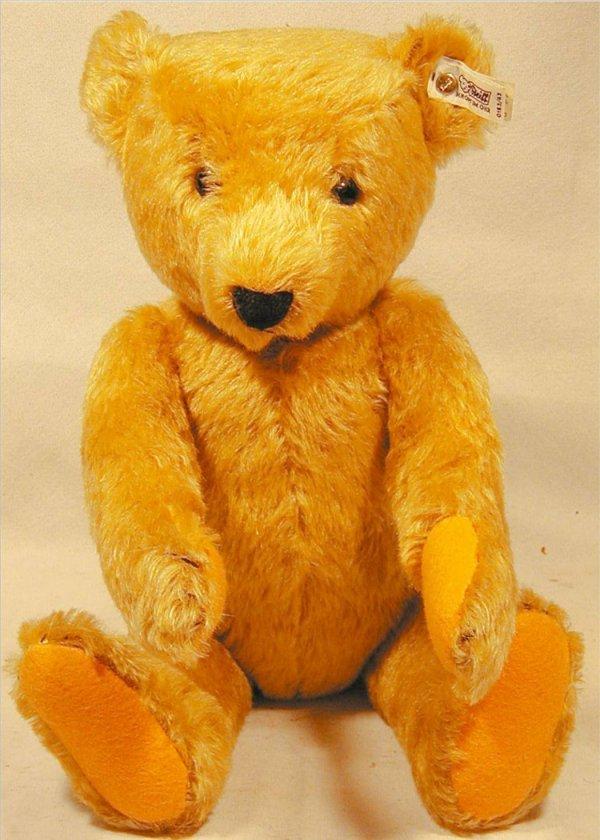 """3007: Steiff Teddy Bear 17""""H, Jointed, Ear Button & Tag"""