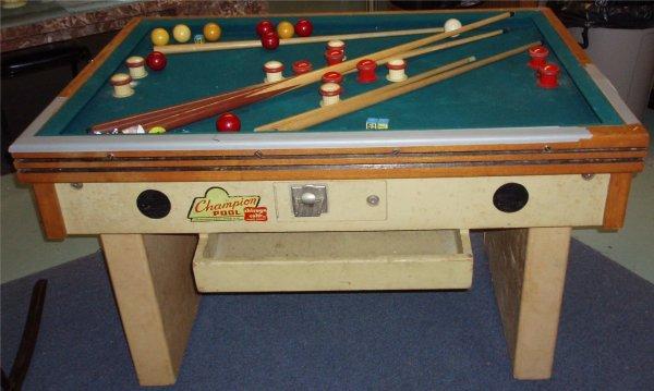 "3010: Champion 1"" Slate Top Bumper Pool Table"