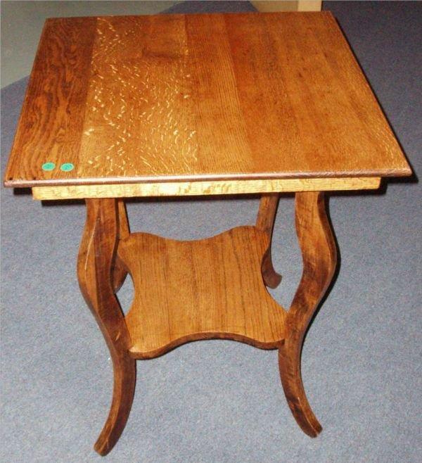 3014: Quartersawn Oak Lamp Table