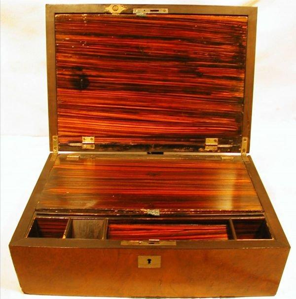 3117: Antique Carraige Lap Top Writing Desk, Mother of