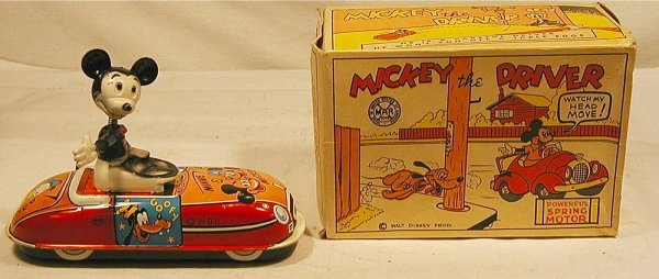 "5040: Marx Mickey The Driver with Box, 6"" Long"