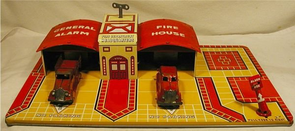 5012: Marx General Alarm Fire House with Original Corre