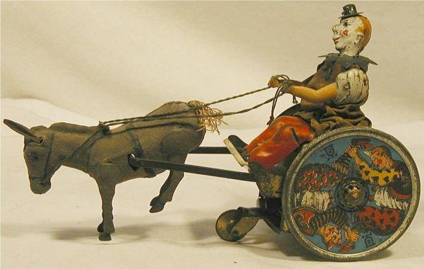 6009: Lehmann Stubborn Donkey, clown in donkey cart, 7