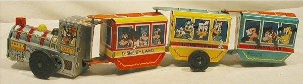 6013: Walt Disney Train Vintage Lithographed Tin Wind U