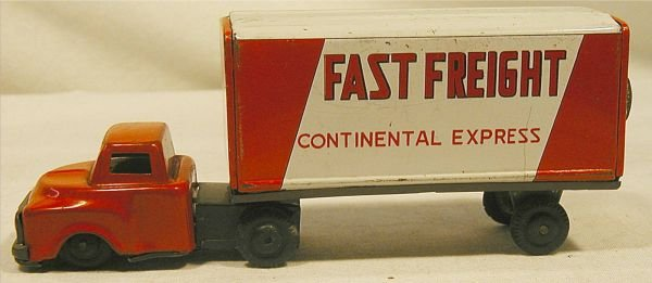 6018: Vintage Toy Truck Fast Freight Contental Express