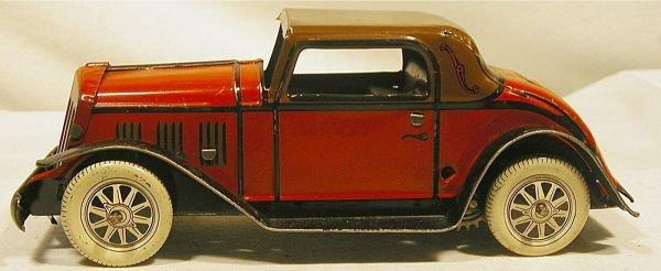 "6023: Marx Sedan, 1937, 4"" Long, Near Mint Condition"
