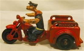 6171: Hubley Motorcycle Trike Popeye Spinach Cycyle, 5