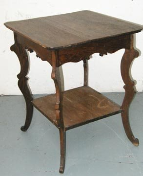 7: Carved Oak Lamp Table