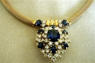 1918 Sapphire & Diamond Necklace