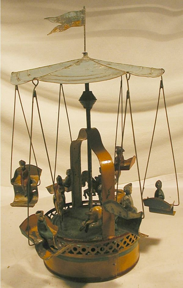 "1008: German Merry-Go Round 14 1/4"" H, Probably Gunther"