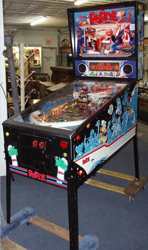 1125: Bally Popeye Saves the Earth Pinball Machine with