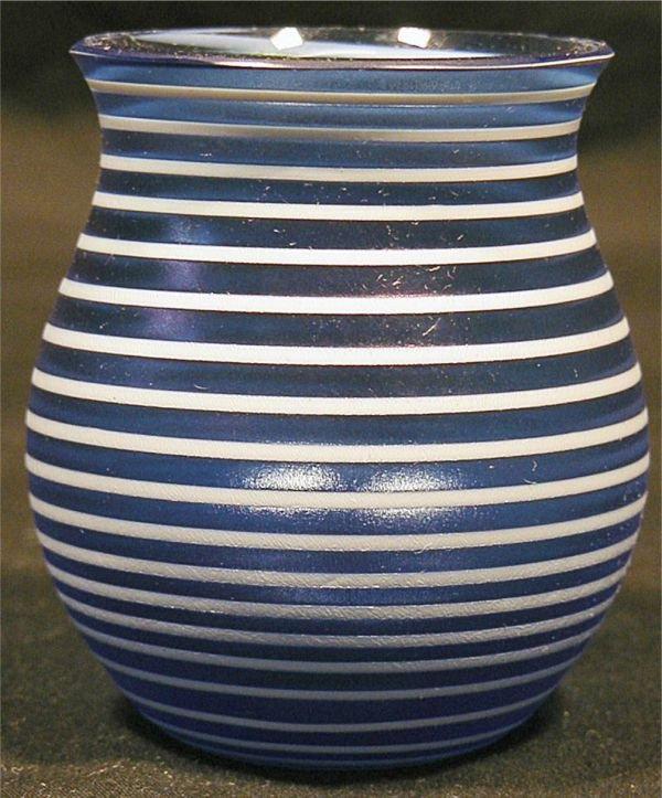1010: Loetz Vase, Signed Loetz with Western Germany Lab